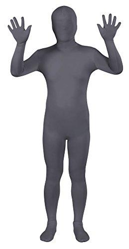 Costume Scuro Grigio Tuta Pieno Zentai Sheface Spandex wZqpn7