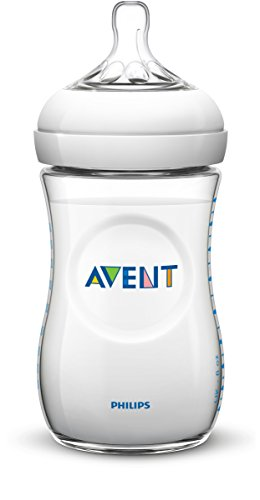 Philips Avent Natural Baby Bottles, Clear, 9 Ounce, (4 Pack)