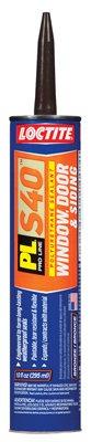 Henkel 1618175 PL S40 Polyurethane Door, Window & Siding Sealant, Bronze, 10-oz. Cartridge - Quantity 12