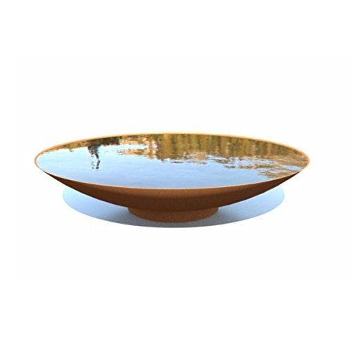 Adezz 80cm Corten Steel Water Bowl Feature Garden Feature Dish Rust Finish
