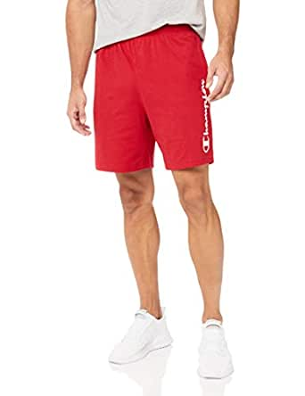 Champion Men's Script Jersey Short, Cherry On Top, Medium