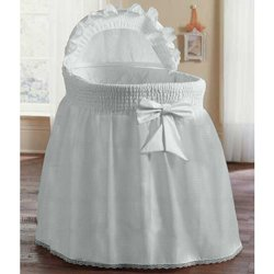 Babydoll Bedding Precious Bassinet Liner/Skirt & Hood, White, 16'' x 32'' by BabyDoll Bedding