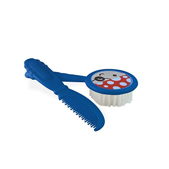 Beebaby Soft Brush and Comb Set for Newborn Babies (Blue)