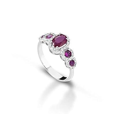 De Giorgio Jewellery Ring White Gold And Diamond Ruby Ring Ct 1 57
