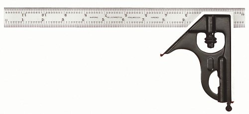 Starrett C33H-12-4R 12-Inch Combination Square with Square Head Only