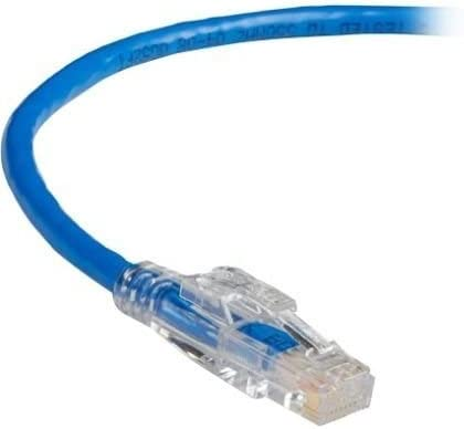 - 7 ft Category 5e Network Cable for Network Device 7-ft. First End: 1 x RJ-45 Male Network Blue 2.1-m UTP Black Box GigaBase 3 CAT5e 350-MHz Lockable Patch Cable Second End: 1 x RJ-45 Male
