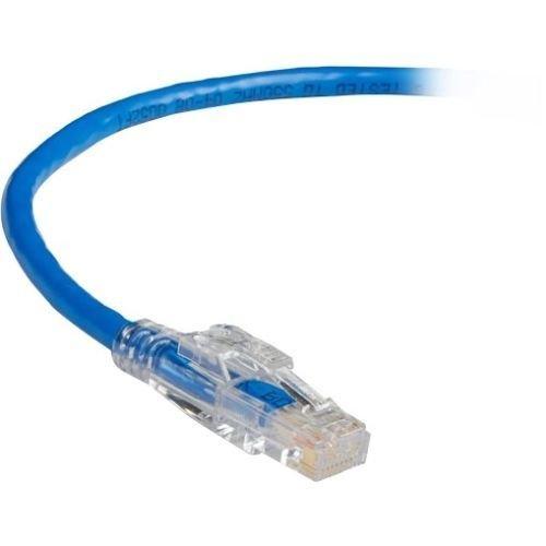 Blue BLACK BOX C5EPC70-BL-30 GigaBase 3 CAT5e 350-MHz Lockable Patch Cable 30-ft. 9.1-m UTP