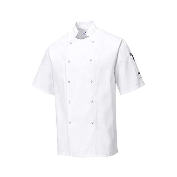 Portwest Veste de Cuisine Cumbria, Couleur: Blanc, Taille: L, C733WHRL