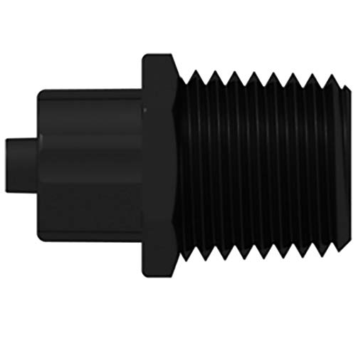 """M Male Luer Lock to 1//4/"""" NPT PP Cole-Parmer Luer Adapter"""