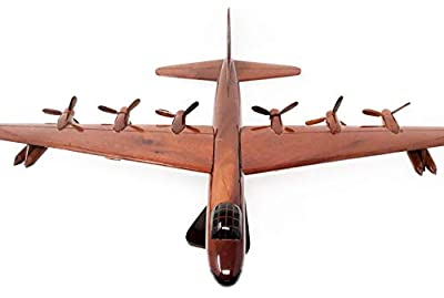 B-36 Peacemaker Replica Airplane Model Hand Crafted with Real Mahogany Wood