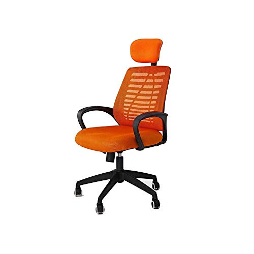 (Swivel Chair QZ Home Swivel Chair Computer Office Chair Household Human Body Engineering Rise Drop Mesh Chair (Color : Orange))
