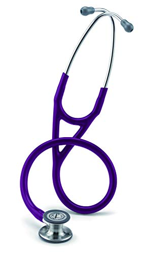 - 3M Littmann Cardiology IV Diagnostic Stethoscope, Standard-Finish Chestpiece,  Plum Tube,  Stainless Stem and Headset, 27 inch, 6156