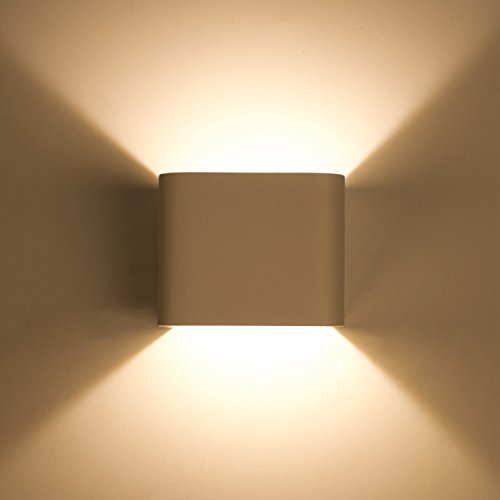 Lightess Up Down Wall Sconces Lights Mini Wall Lamps LED 5W Aluminum Design 2700K Warm White for Hallway Bedroom