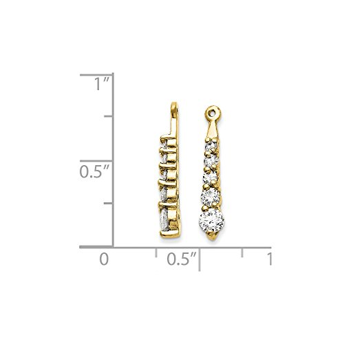 14k Yellow Gold 0.7IN Long H I SI2 Diamond Earrings