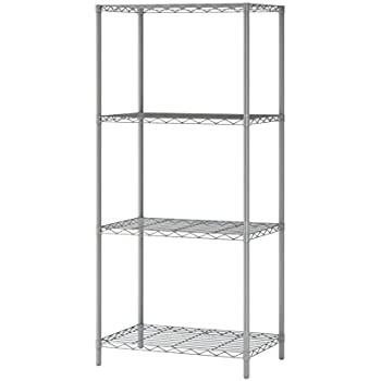 Superb Homebi 4 Tier Wire Shelving 4 Shelves Unit Metal Storage Rack Durable  Organizer Perfect Pantry