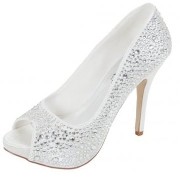 33bb29de1432f Sarah Full Crystal Ivory Wedding Shoes Perfect Bridal Shoes by Verdon  Trading (6)  Amazon.co.uk  Shoes   Bags