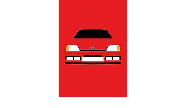 Ford Fiesta RS Turbo - Tarjeta de felicitación Retro Motor Company: Amazon.es: Oficina y papelería