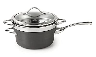 Calphalon Contemporary Nonstick Dishwasher Safe Steamer with Insert and Cover, 4.5-Quart