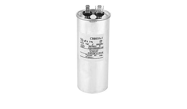 Condensador para Lavadora, 125x50mm CBB65 70UF 450V Carcasa de ...
