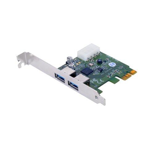 Adaptador de host de 2 puertos SuperSpeed USB 3.0 PCI-Express PCIe 2.0 (x1)
