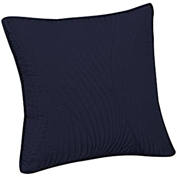 Brielle Stream Embroidered Euro Sham, Navy