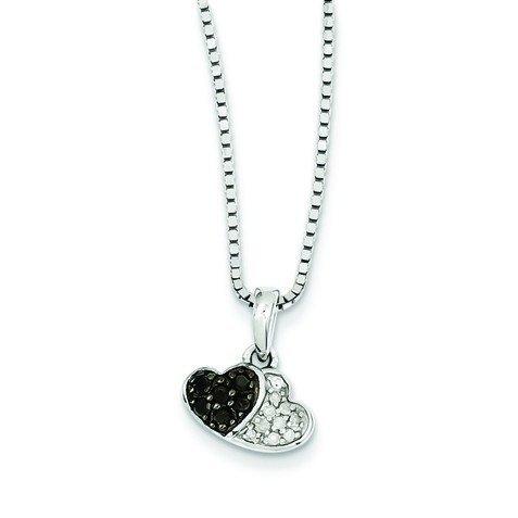 Sterling argent noir et blanc diamant-JewelryWeb bruts