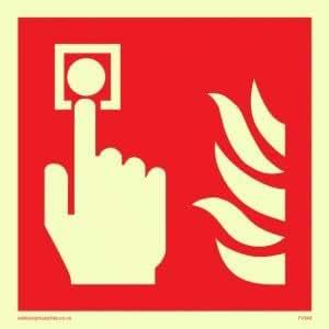 Alarma de incendio llamada punto símbolo sólo - equipo de fuego