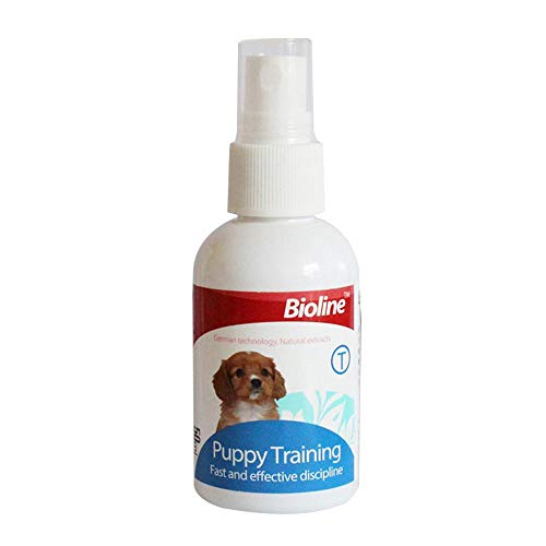 (AUOKER Dog Potty Training Spray, Dog Puppy Here Potty Training Puppy Housebreaking Aid Spray for Dogs to Help Puppies Pee at Specific Place, Dog Toilet Trainer Indoor or Outdoor Use 50ml/ 1.7oz)