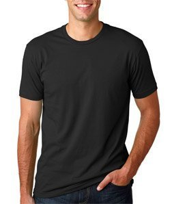 Next Level Apparel 3600 Unisex Adult Premium Fitted Short-Sleeve Crew Black - Apparel Black Crew Sleeve Short