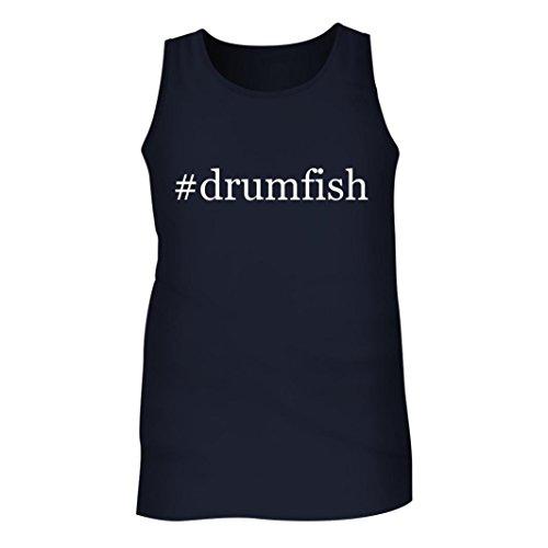 #drumfish - Men's Hashtag Adult Tank Top, Navy, Medium