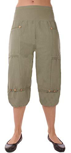 a4a9e136d854d0 FASHION YOU WANT Damen Leinenhose Größe 36/38 bis Größe 56/58 aus 100%  Leinen - leichte Sommerhose Tunnelbund mit Gummizug und 2 aufgesetzten  Taschen vorne ...