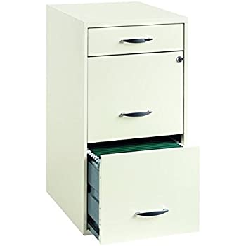 Amazon Com Hirsh Soho 3 Drawer File Cabinet In Charcoal