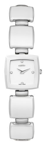 Roamer Ceraline Carr? Women's Quartz Watch with White Dial Analogue Display and White Stainless Steel Bracelet 672953 91 29 60