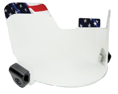 EliteTek Visor/Eye-Shield - Hard Hitting No Quitting (Flag)
