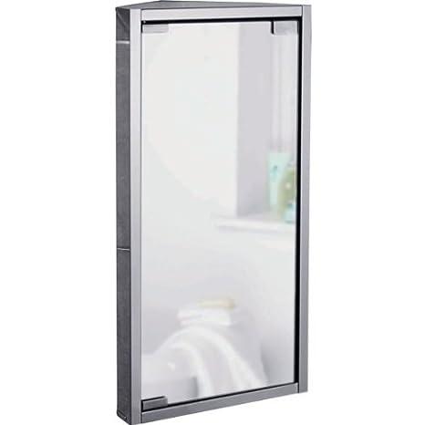 Specchio Angolare Per Bagno.Essentialz Specchio Bagno Armadietto Angolare In Acciaio