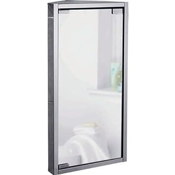 essentialz miroir de salle de bain armoire dangle en acier inoxydable avec gant - Placard D Angle Salle De Bain