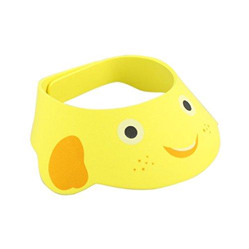 Misaky Baby Shampoo Shower Bathing Bath Protect Adjust Soft Cap Hat (yellow) (Little Bitty Hat)