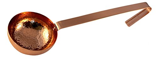 Premium Quality Hammered Copper Ladle - 100% Pure Heavy Gauge Copper - By Alchemade