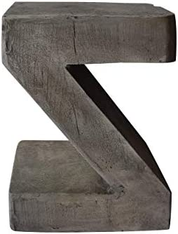 Christopher Knight Home Ligia Weight Concrete Accent Table, Light Gray