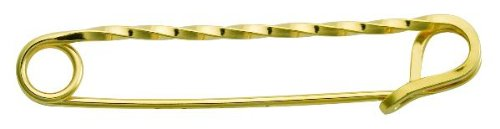 (Perri's Gold Twisted Stock Pin, Gold Plated, One Size)