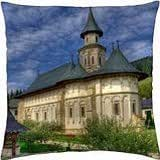 Monastery from Bucovina, Romania - Throw Pillow Cover Case (18