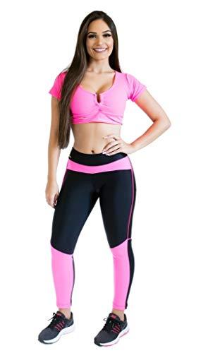 Calça Legging - Scissor Training - Rosa - P