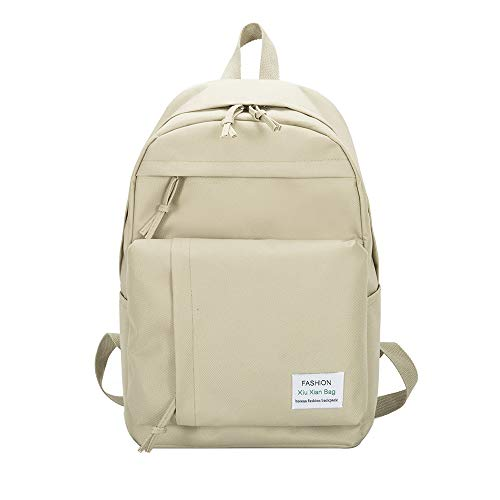 ♛HYIRI Casual Nylon Classic Couple Backpack,Women's Simple Versatile College Campus ()