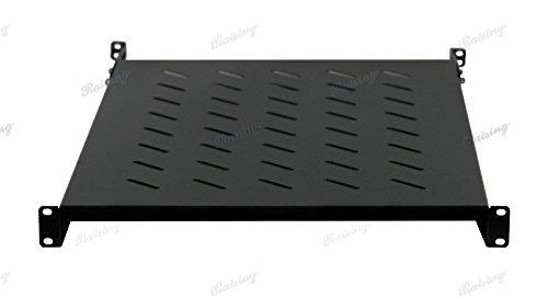Rising Rack Server Vented Shelf 19'' Rack Mount 1U Adjustable from 24''-30'' Shelves by Raising Electronics
