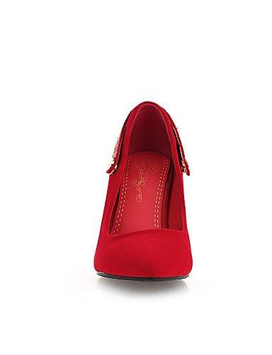 CN34 casuale a blu Event a punta scarpe a spillo punta GGX EU35 tacco nero Scarpe us5 Talons rosso Evening Black tacco vestiti UK3 B8vqE