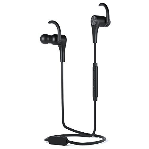 h Wireless and Wired Earbuds | Hybrid In-Ear Headphones with Mic and Volume-Control | Sweatproof Sport Workout Earphones for the Gym and Running| Magnetic Noise-Isolating Ear Buds ()