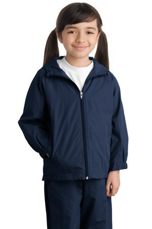 Sport-Tek Youth Hooded Raglan Jacket, True Navy, XL by Sport-Tek