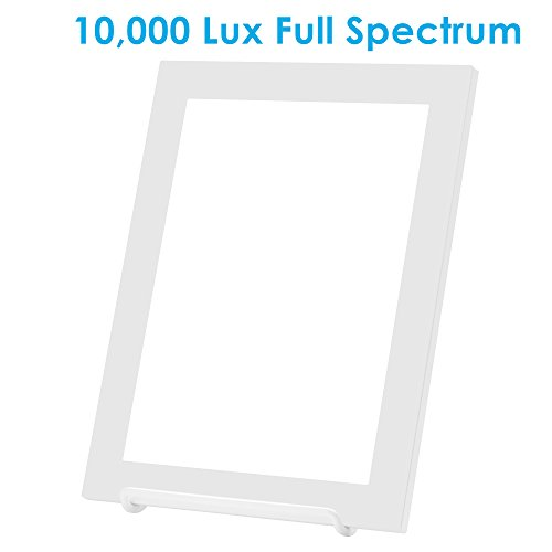 Charmax SLT002 10,000 Lux Light Therapy Lamp, Bright White Full Spectrum LED Light Box, 10.3 x 7.8 inch, ()