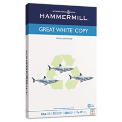 -- Great White Recycled Copy Paper, 92 Brightness, 20lb, 11 x 17, 500 Sheets/Ream by MOT3