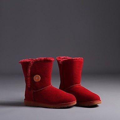 Botas de mujer invierno primavera PU Confort confort informal Camel Plano negro rubí Black
